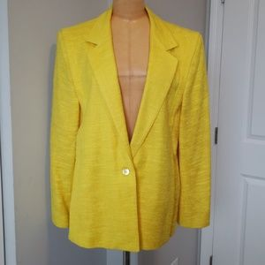 Vintage bright yellow blazer
